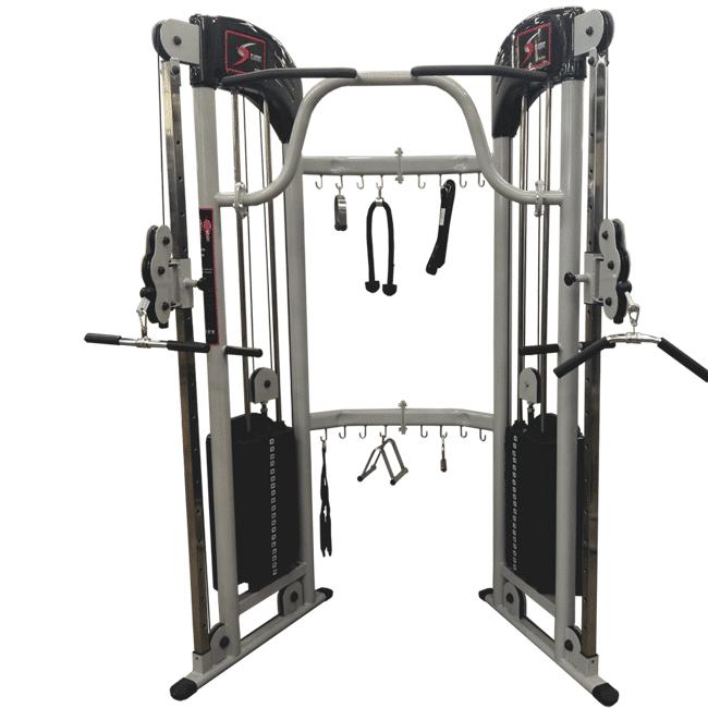 Cross Over Angular Com Suporte Para Barras e Puxadores - Flex Fitness