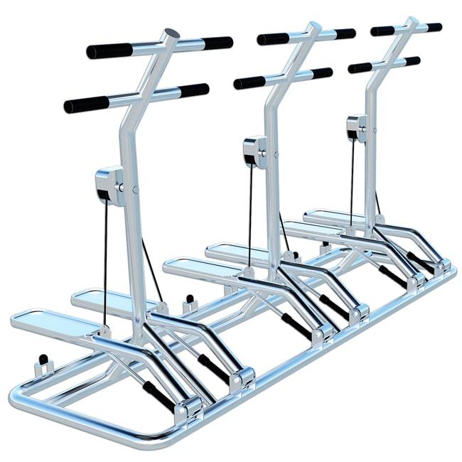 Simulador de Escadas Triplo INOX - Flex Fitness