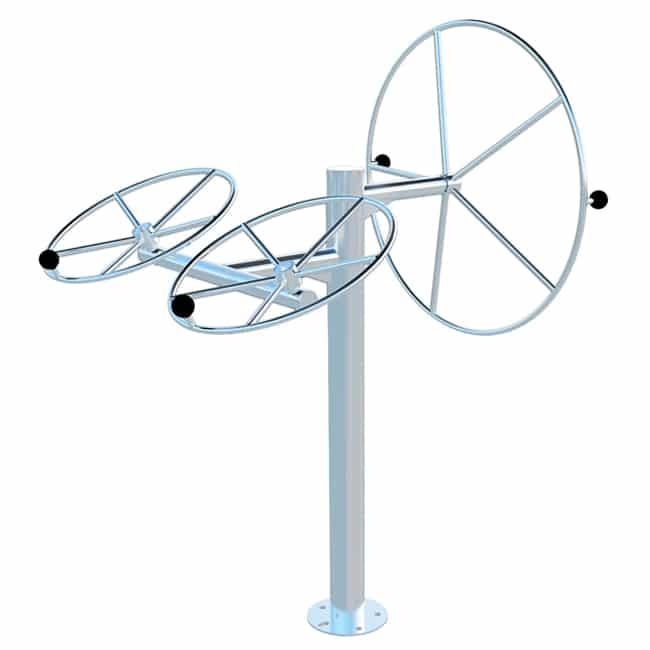 Roda Vertical com Duplo Diagonal INOX - Flex