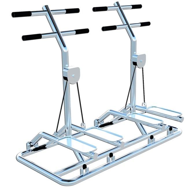 Simulador de Escadas Duplo INOX - Flex Fitness