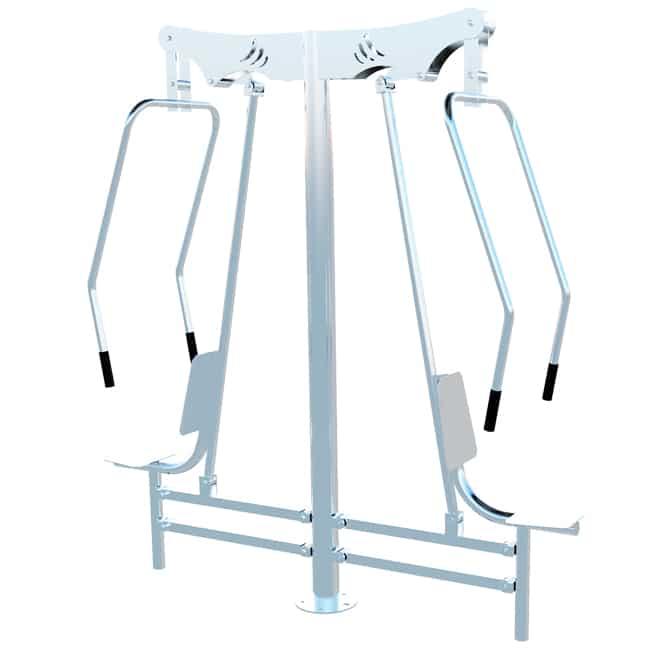 Peitoral Duplo INOX - Flex Fitness