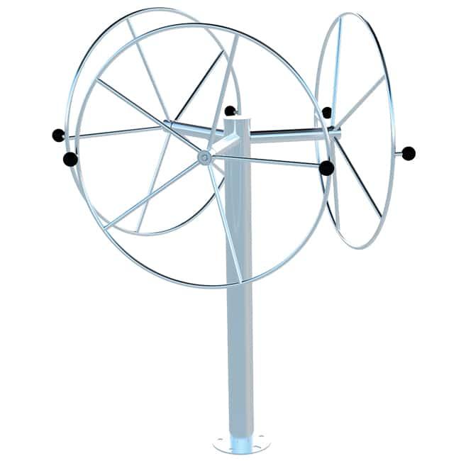 Roda Vertical Tripla INOX - Flex Equipment