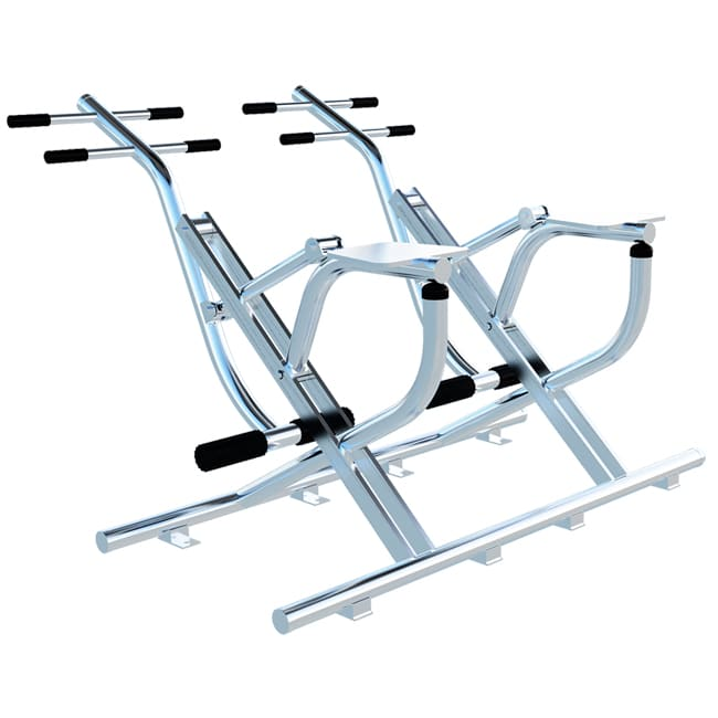 Simulador de Cavalgada Duplo INOX - Flex Fitness