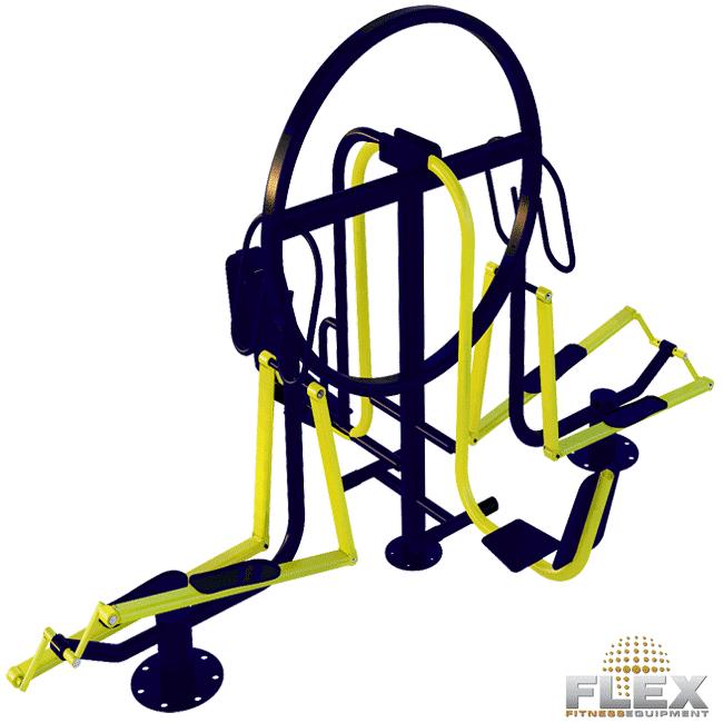 Pressão de Pernas e Elíptico Quadruplo - Flex Equipment