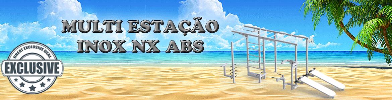 Multi estação de academia ar livre INOX - Flex Fitness