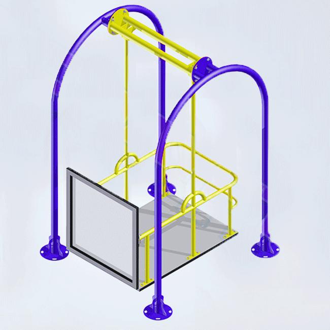 CAD01 – Balanço Cadeirantes 1 Lugar - Flex Equipment
