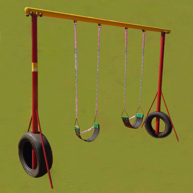 IQB06 – Balanço Duplo Pneus - Flex Fitness