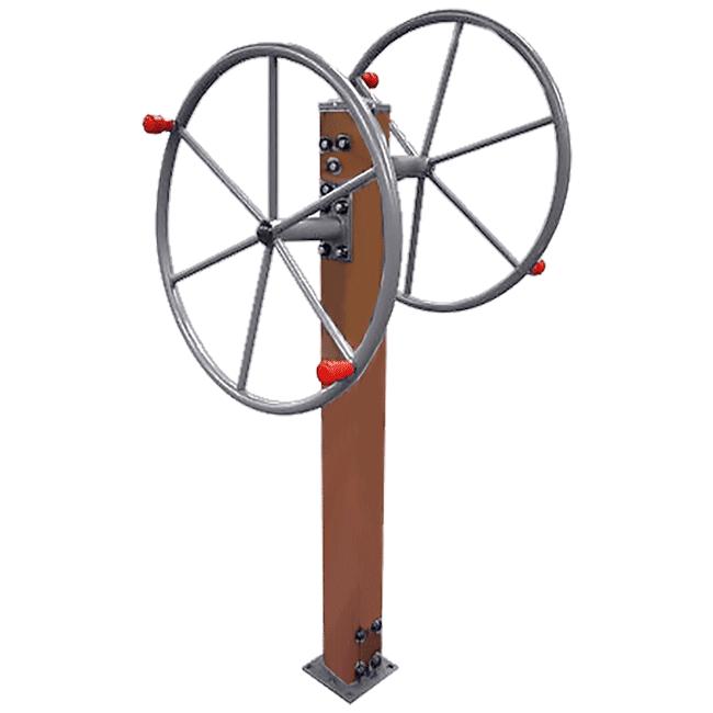 Roda Dupla / Rotação Vertical Duplo MADEIRA - Flex Equipment