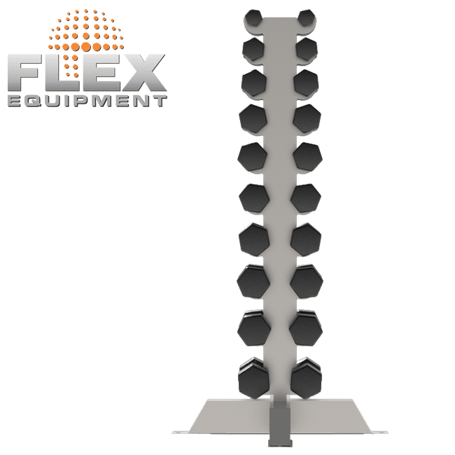 Estante para Halter VERTICAL – INOX - Flex Equipment