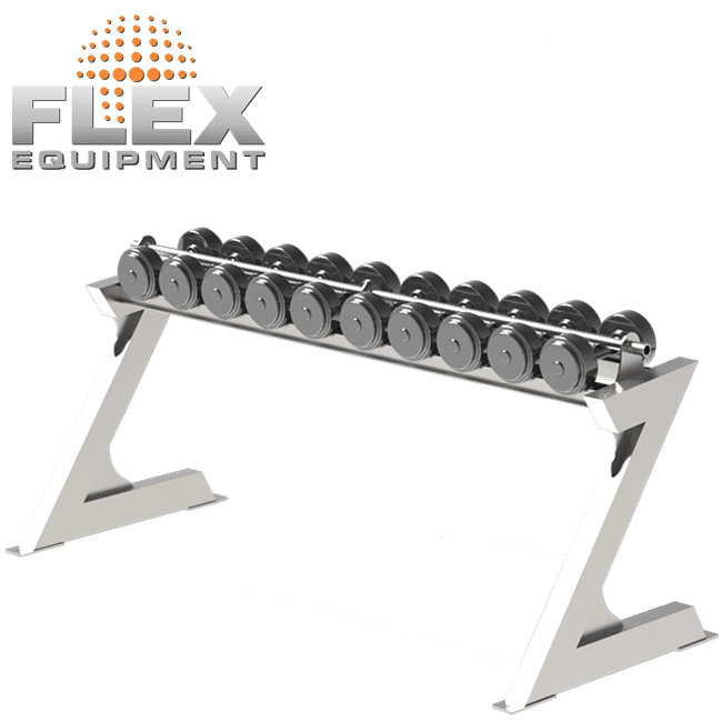 ESTANTE PARA DUMBELLS – INOX - Flex Equipment