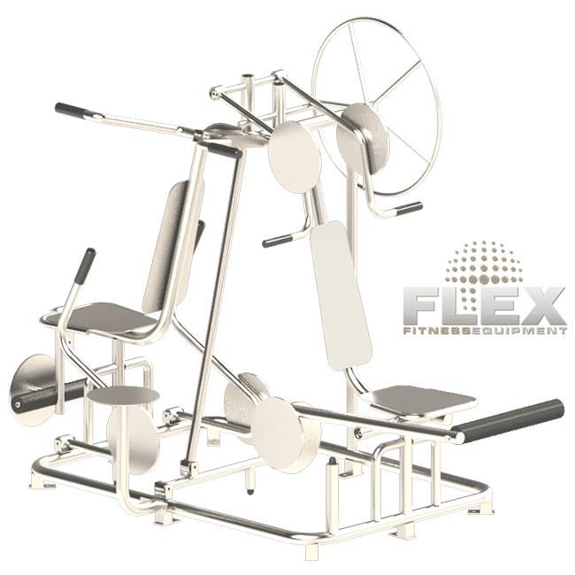MULTI-ESTAÇÃO 6 EM 1 INOX - Flex Equipment