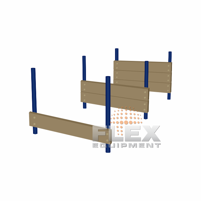 Parede de Salto 3 Alturas – PET PLACE - Flex Equipment