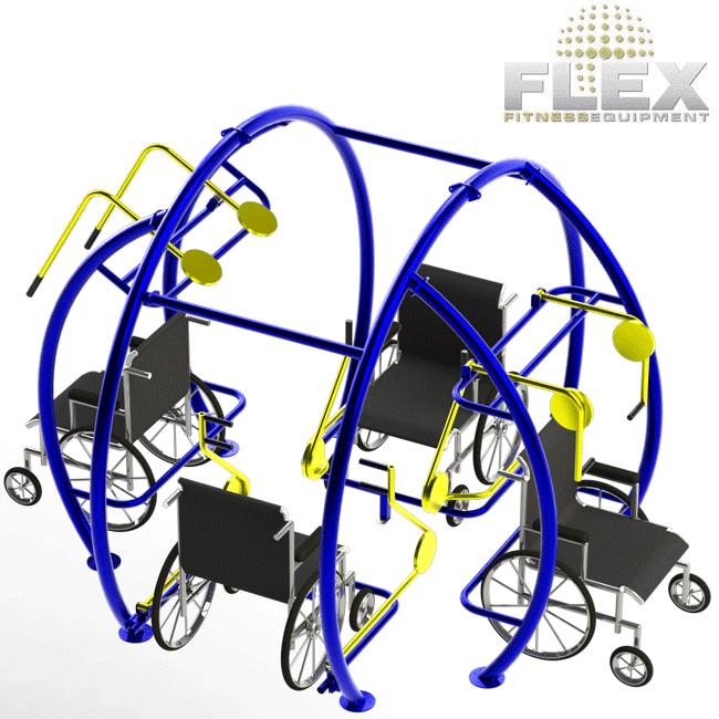MULTI-ESTAÇÃO NECESSIDADES ESPECIAIS ROUND - Flex Equipment