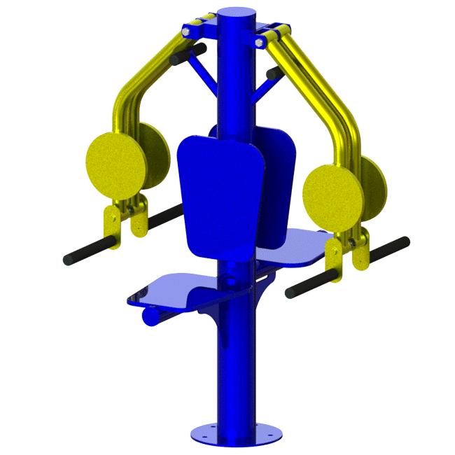 Adutor Abdutor de Braços DUPLO - Flex Equipment