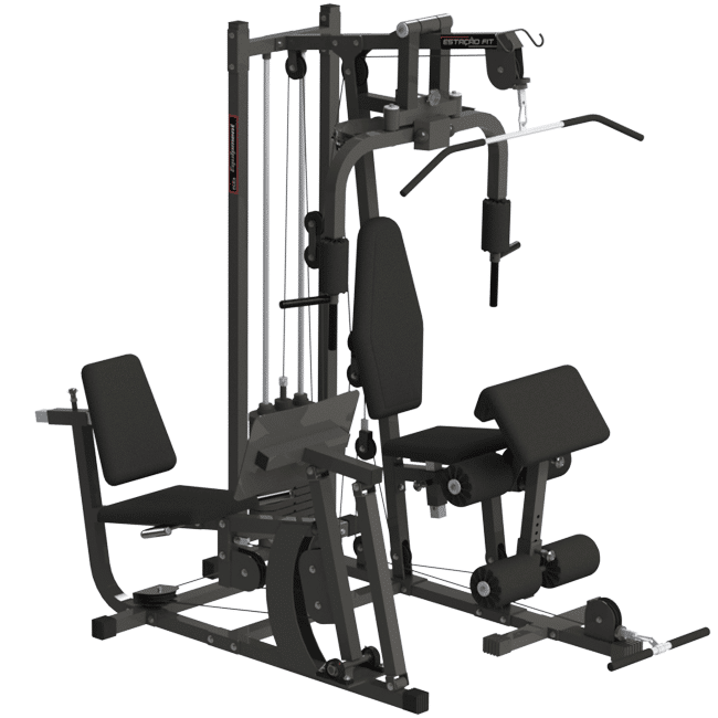 02 – MULTI ESTAÇÃO FIT PLUS COM LEG PRESS - Flex Equipment