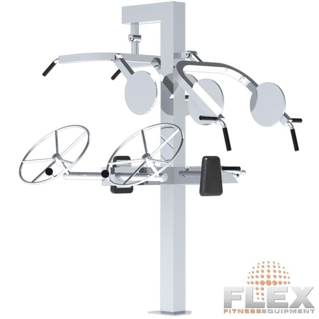 MULTI-ESTAÇÃO NECESSIDADES ESPECIAIS INOX - Flex Equipment